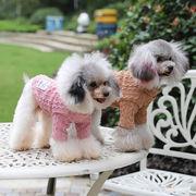 秋冬新作 ペット用品 犬猫の服 防寒 ニット 人気 ファッション 小中型犬服 犬猫洋服 ドッグウェア