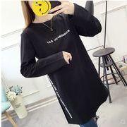 【大きいサイズ】ファッション/人気Tシャツ♪ホワイト/ブラック2色展開◆