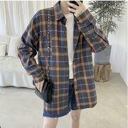 【大きいサイズM-5XL】ファッション/人気ワイシャツ♪アカ/イエロー/ブラウン3色展開◆