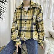 【大きいサイズM-5XL】ファッション/人気ワイシャツ♪アカ/イエロー/ブルー3色展開◆