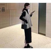 【大きいサイズXL-4XL】ファッション/2枚セットワンピース♪全5色◆