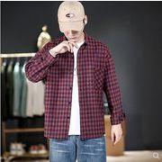【大きいサイズM-5XL】ファッション/人気ワイシャツ♪ライトアカ/ダークアカ/ホワイト3色展開◆