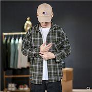 【大きいサイズM-5XL】ファッション/人気ワイシャツ♪ダークグリーン/ライトパープル2色展開◆