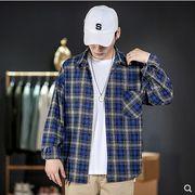【大きいサイズM-5XL】ファッション/人気ワイシャツ♪アカ/ブルー2色展開◆