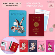 MARIANNE KATE マリアンケイト パスポートケース トラベルウォレット 多機能 旅行便利グッズBON VOYAGE