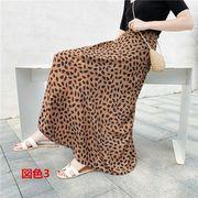全6色 韓国ファッション エレガント 花柄 ドット柄 2パターン ロングスカート