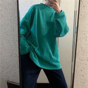シンプル ゆったりしたフード付きセーター 秋服 新しいデザイン 韓国風 何でも似合う 単