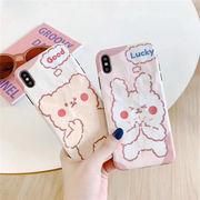 iPhoneXSケース 兎 アイフォンXケース 熊 スマホケース