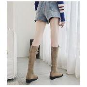 全2色 韓国ファッション ブーツ カジュアルシューズ 合わせやすい靴 後ろジッ