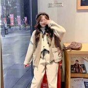 YUNOHAMIボアブルゾン レディース韓国秋冬 即納通勤 ジャケット オシャレパッチポケット付き切り替え