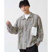 【2019秋冬新作】 メンズ ビッグポケット オーバーサイズ 長袖 チェックシャツ アウター