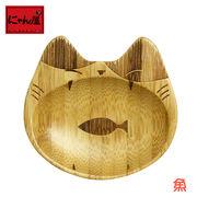 「にゃん屋」★猫型小皿 魚