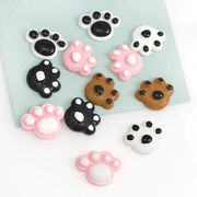 12個 樹脂パーツ 肉球 動物 立体 猫 犬 熊 樹脂 カポション ピアス デコ電 髪飾り 封入パーツ デコパーツ