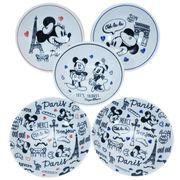 【食器セット】ミッキー&ミニー フルーツボウル5枚セット レッツトラベル