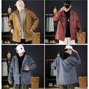 【大きいサイズM-5XL】ファッション/人気コート♪グレー/イエロー/アカ3色展開◆