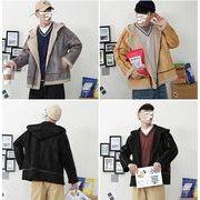 【大きいサイズM-5XL】ファッション/人気コート♪グレー/ブラック/カーキ3色展開◆