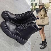 フラッツ カレッジ風 学生 靴 女靴 革靴 高い靴 ひもあり 秋冬 新しいデザイン カジ