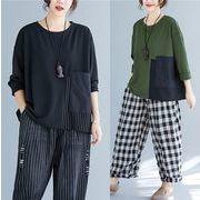 【秋冬新作】ファッショントップス♪ブラック/グリーン/ブラウン3色展開◆