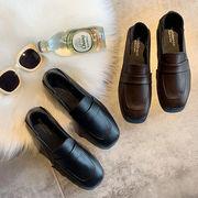 小さな靴 女性英国スタイル 新しいデザイン 秋 靴 学生 何でも似合う ローヒール ピー