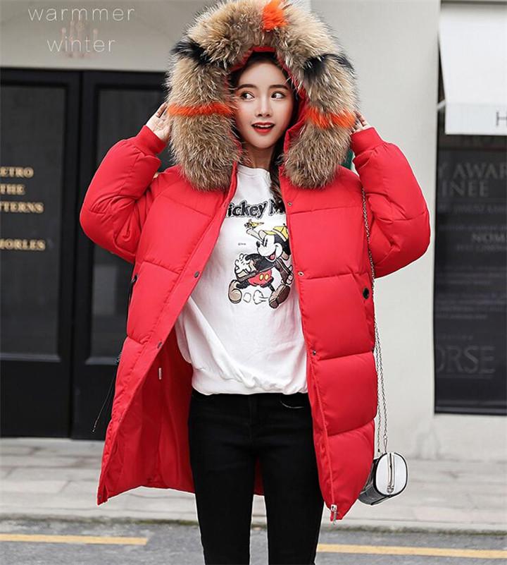 女性 ミディアムロング 韓国 ゆったりする ウィンター コットンジャケット コート 気質 カレッジ風