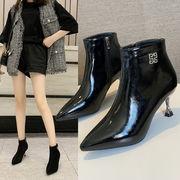 スエード ブーツ 女 何でも似合う 冬 新しいデザイン ヒント 細いヒール ハイヒール
