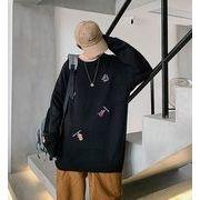 【2019秋冬新作】メンズ◆ニット トップス◆長袖◆カジュアル◆丸首のセーター◆3色◆M-XXL