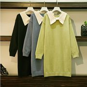 【大きいサイズXL-4XL】ファッション/人気ワンピース♪ブラック/グリーン/ブルー3色展開◆