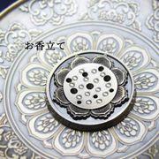 真鍮製 お香立て 蓮の花 真鍮製受け皿などに♪ インテリア アロマ