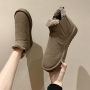 靴 女靴 秋と冬 新しいデザイン 厚さプラス 暖かい スノーブーツ 厚底 恋人 パンの靴