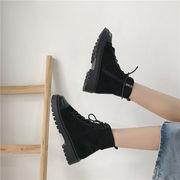 靴 女靴 秋冬 新しいデザイン マーティンブーツ 女性英国スタイル アンティーク調 厚底