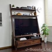 ◎リニューアル◎テレビ台 北欧 壁面 50インチ対応 125cm幅 ブラウン LDATV125-V2-BR