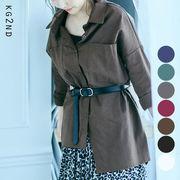 【即納】全7色!アシンメトリーオーバーロングシャツ [cea0018]
