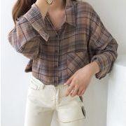 【NEW】チェックシャツ★韓国ファッション★秋服★トップス★長袖
