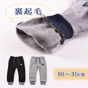 【2019秋冬新作】【ベビー】ニット裏起毛パンツ(裾リブ)(80~95cm)