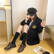 靴 女靴 秋と冬 新しいデザイン 何でも似合う 英国スタイル アンティーク調 小さな靴