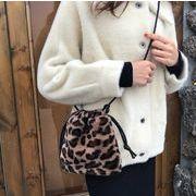 2019新作 バッグ 巾着バッグ ショルダーバッグ レオパード もふもふ 韓国ファッション