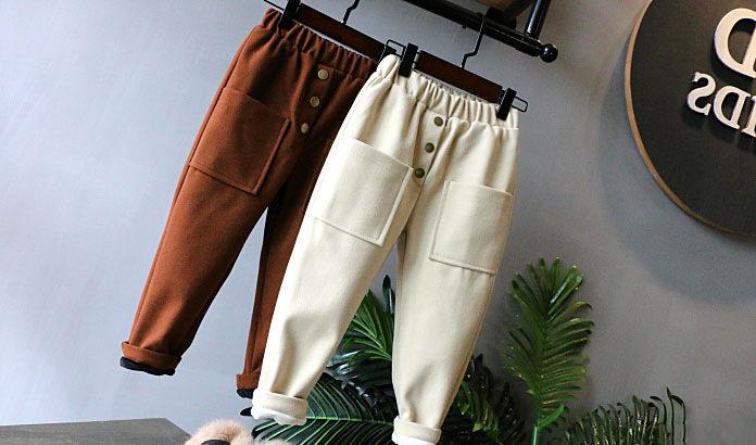 子供 パンツ、柔らかくてベルベットのスラックス、ズボン