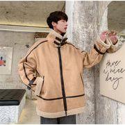 子羊の毛コート 冬 2019新 プラスベルベットの肥厚 韓国 潮 綿 カジュアル 百掛け カレッジ風 綿ジャケット