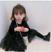 チュール ワンピース 春 秋 女の子 キッズ 2-7歳 子供服 シンプル ファッション
