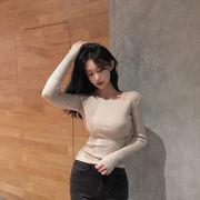 ハン 風 着やせ 着やせ ニット 女性服 薄いスタイル プルオーバー 秋 新しいデザイン