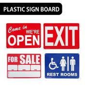 【店舗ディスプレイ】AMERICAN プラスティックサインボード【オープン、レストルーム他】