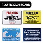 【ど定番】AMERICAN プラスティックサインボード【津波注意、タクシー乗り場他】