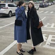 韓国風 風 小 ファッション シンプル 何でも似合う 秋冬 気質 手厚い ロングスタイル