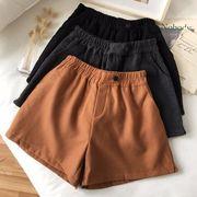 パンツ 女 秋冬服 新しいデザイン 韓国風 ルース ハイウエスト 着やせ 羊毛の 何でも