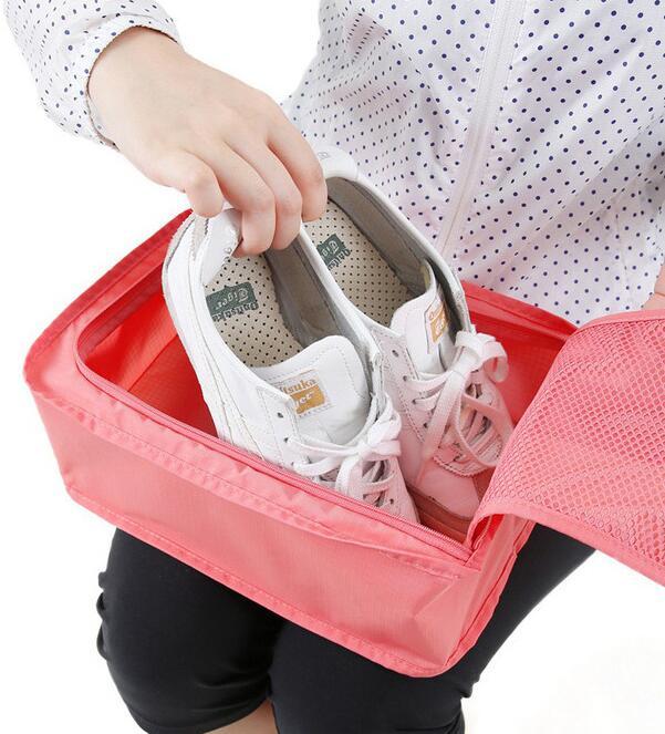 シューズ 靴 持ち運び コンパクト シューズバッグ トラベルシューズバッグ ポーチ 靴入れ 靴収納袋
