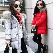 子供服 パーカー コート ロングコート ジャケット 冬用 アウター 女の子 キッズ ジャケット 中綿コート