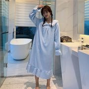 第1 番 ピープル ホーム 秋と冬 新しいデザイン ナイトドレス 女 手厚い プラス ロ