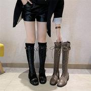 アウトドアシーズン到来!!百掛け/レトロ/ブーツ/ 高品質/オシャレ/トレンド/ラウンドトゥ/ピンヒール