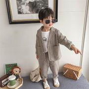 2019 秋季 新品 男の子ファッション 大人気 早い者勝ち 長袖 赤ちゃん スーツ カジュアル 2点セット