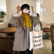 スーツ ウールのコート 女 秋冬 新しいデザイン 韓国風 ルース 中長スタイル 気質 着
